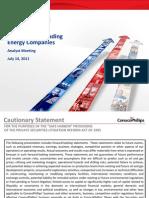 Restructuring Analyst Presentation 7-14-11