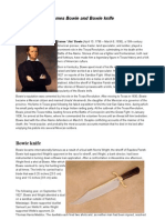 James Bowie and Bowie Knife