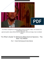 Tim Rifat - Understanding how to defeat radio based Mind Control Systems