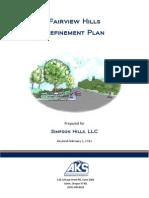 Fairview Hills Refinement Plan
