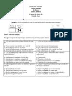 Evaluación de lectura mensual EL TERROR DEL SEXTO B - copia