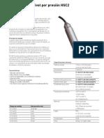 Sensor de Nivel Por Presion HSC2