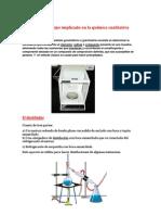 Materiales y equipo implicado en la química cualitativa