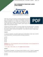 Prova de Matemática Caixa Economica
