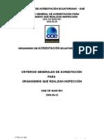 OAE CR GA08 R01 Criterios Generales de Acreditación para OI