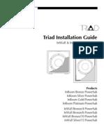 Triad Subs Install