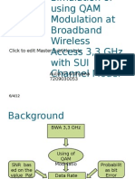 Simulation of Using QAM Modulation at Broadband Wireless