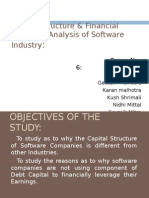 Capital Structure & Financial Leverage Analysis of Software Industry