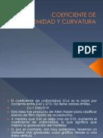 Coeficiente de Uniform Id Ad y Curvatura