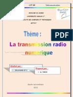rapport  transmission radio numérique