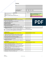 Control Plan Audit Form