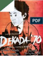Filipino Book Report (Dekada '70)