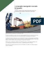 Perú, tercera economía emergente con más proyección del mundo