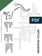 Animals Crossword Reptile