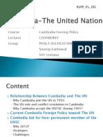 Cambodia-The United Nation
