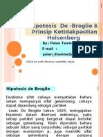Hipotesis de Broglie & Ketidakpastian Hessenberg