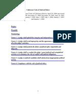 Judicial Ethics CA CODE