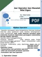 Aljabar Operator Dan Masalah Nilai Eigen