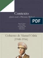 Expo Quien Mato a Palomino Molero-contexto
