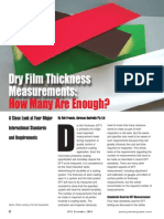 Dry Film Thickness Measurements How Many Are Enough