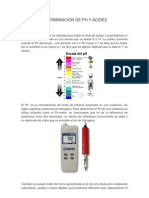 Determinacion de Ph y Acidez
