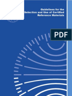Guidelines for the Selection and Use of Certified Reference Materials