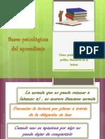 Bases psicológicas del aprendizaje