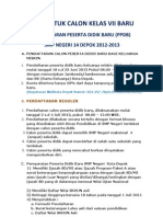 Info ran Ppdb Smp 2012-2013