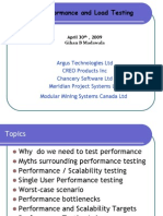 Essence of Performance and Load Testing VanQ 30 April 2009
