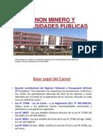 Canon Minero y Universidades Economia 2011