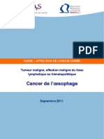 Cancéro 2011.09 Cancer de l'oesophage
