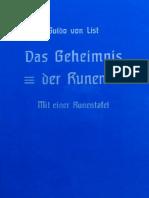 List, Guido - Das Geheimnis Der Runen (1938)