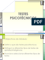 Testes Psicotécnicos - Formação