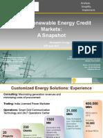 Presentation on Global REC Market by Shri Stephen R. Fernands, President, Customized Energy Solutions