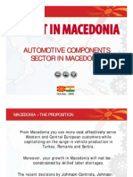 Automotive Sector in Macedonia