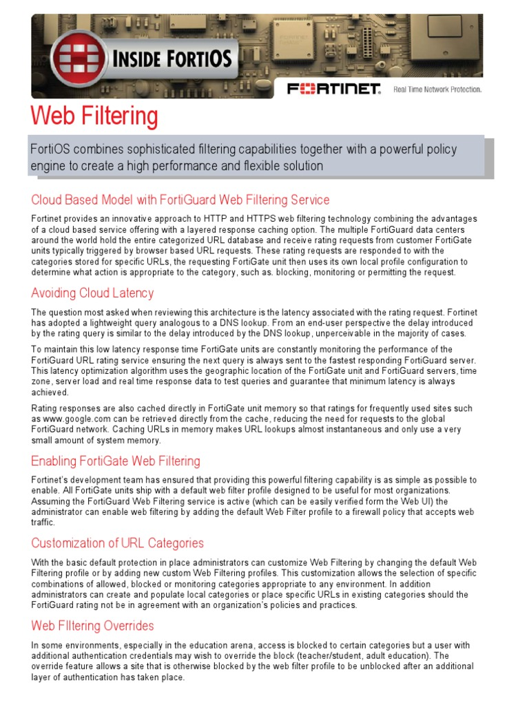 Inside fortios web filtering 40 mr3 cache computing authentication ccuart Images