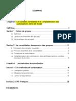 La Consolidation Des Comptes Des Groupes