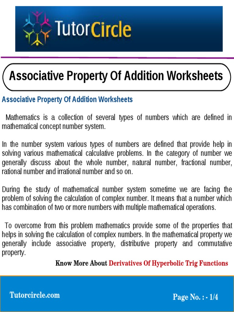 worksheet Commutative Associative And Distributive Properties Worksheet commutative property of addition worksheets 3 digit division untitled numbers multiplication 1509614405 works