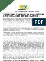 GCO Mettons Enfin en Place Les Bonnes Solutions