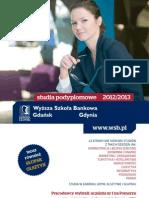 Informator 2012 - Studia Podyplomowe - Wyższa Szkoła Bankowa w Gdańsku