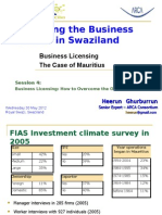 IBC SWAZILAND - Business Licensing in Mauritius 30052012