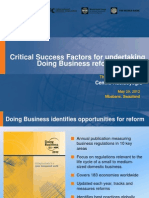 IBC SWAZILAND - Doing Business Reforms - Critical Factors 29052012