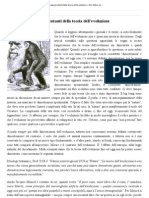 Tre domande ai rappresentanti della teoria dell'evoluzione