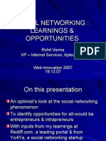 Social NetworkingLearningOpportunities Webinnovation2007