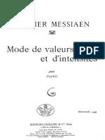 Messiaen-Mode de valeur...