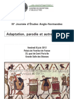 Programme Anglo Norm 2012