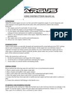 Argus Model Engine Instruction Manual