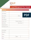 Event Management Plan Template