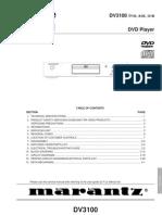 Marantz Dv3100 Dvd Player Sm