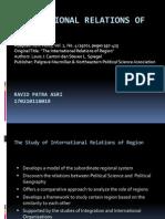 01 - The International Relations in Region